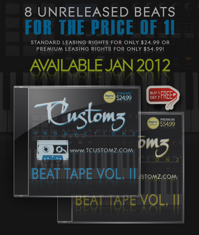 TCustomz Productionz Beat Tape Vol. II