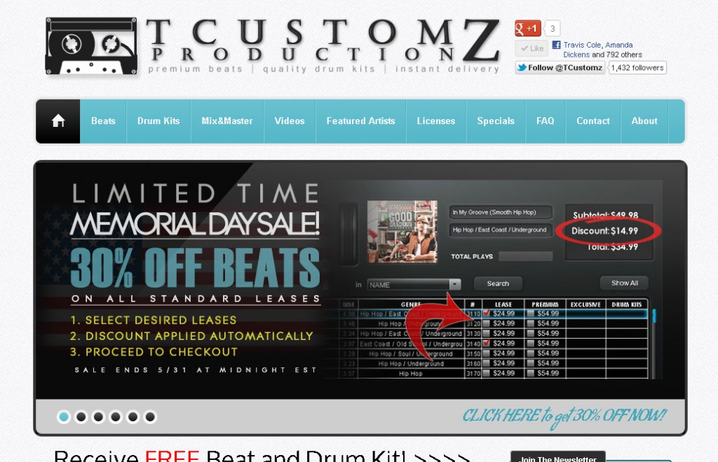 TCustomz.com | Buy Hip Hop Beats | Sampled Beats | Buy Beats Online