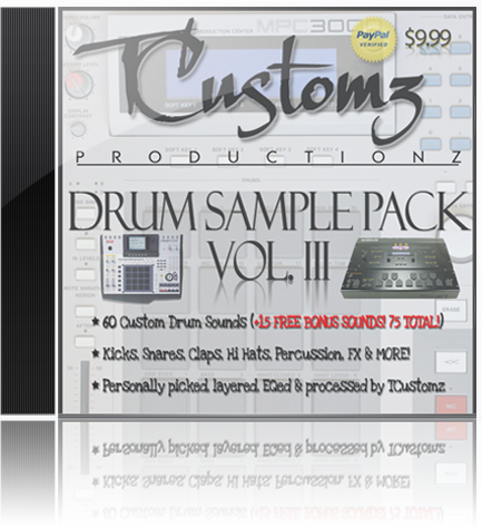 TCustomz Productionz Drum Sample Pack Vol. 3