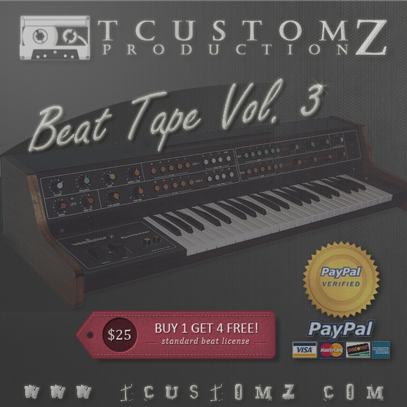 TCustomz Beat Tape Vol. 3 | Buy Unreleased Hip Hop Beats for Sale