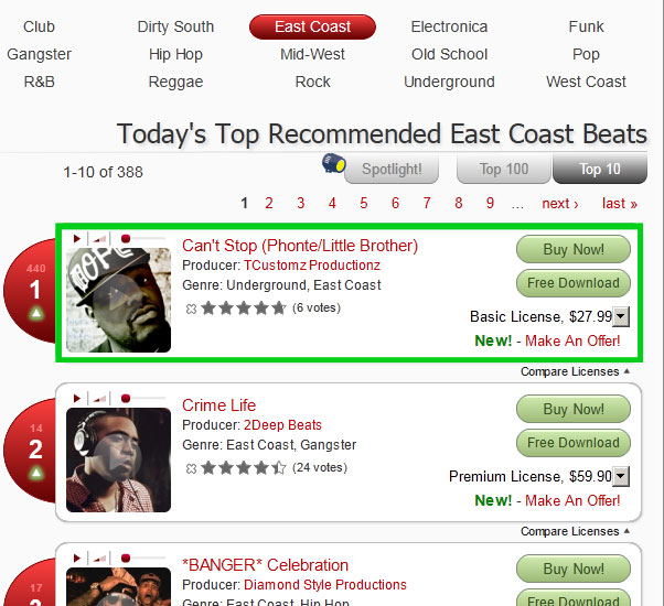 #1 East Coast Beat at Beat Brokerz