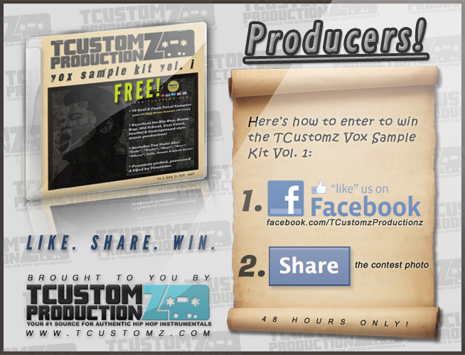Enter the Contest to Win the TCustomz Vox Sample Kit for FREE!