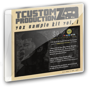 TCustomz Productionz Vox Sample Kit Vol. 1 cover