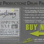 NOW AVAILABLE! | TCustomz Drum Pack Vol. II (100 Custom Drums + 25 FREE Bonus Sounds)
